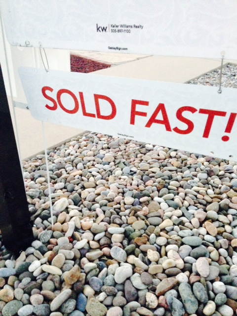 SOLD fast, but closing slow.