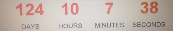 Not that I'm counting...